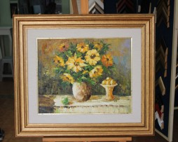 Ivan Stojanovic; Cvijece; Ulje na platnu
